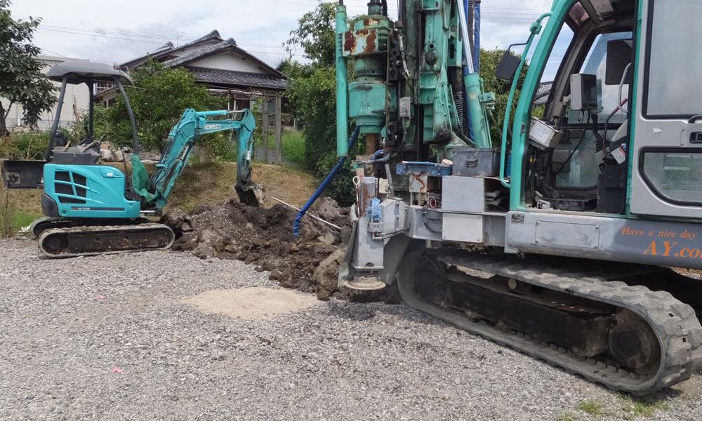 地盤改良・地盤補強工事を施工